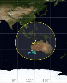 Oceania Cubesat coverage map
