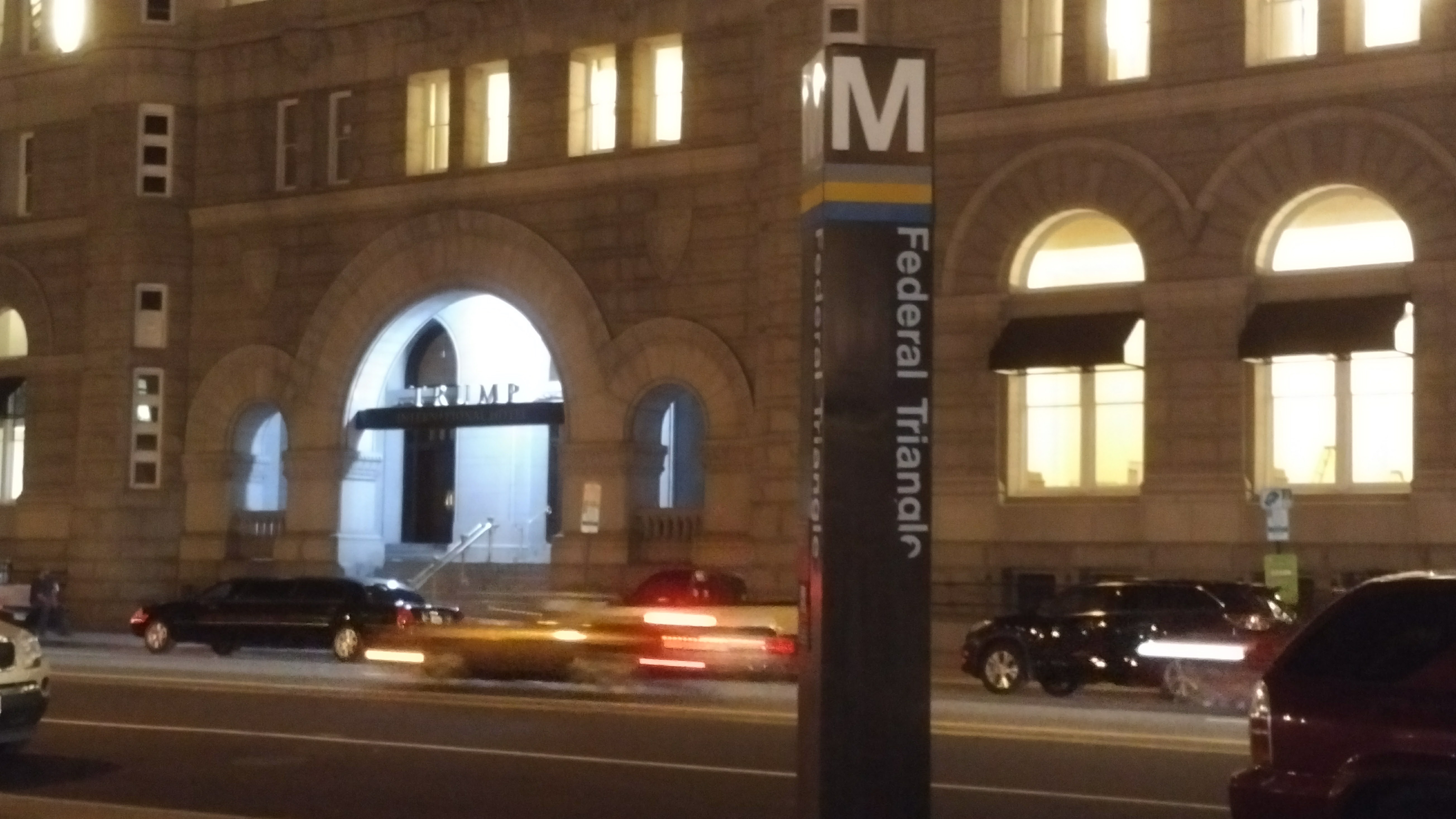 Trump International Hotel entrance facing the WMATA Federal Triangle
